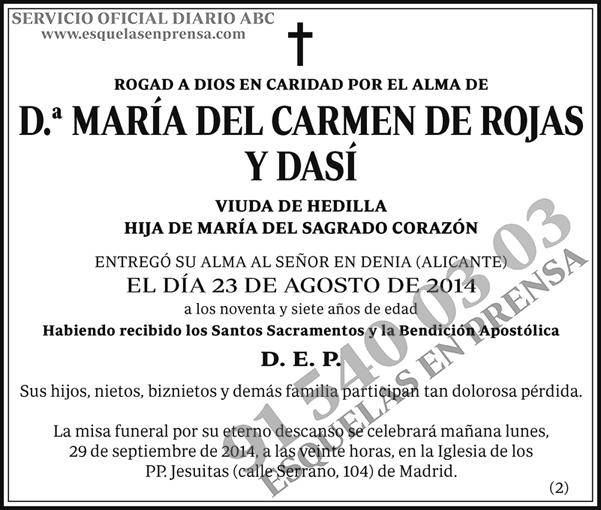 María del Carmen de Rojas y Dasí